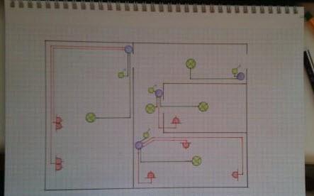 план электропроводки квартиры