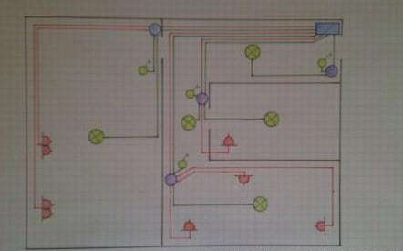 схема электропроводки дома