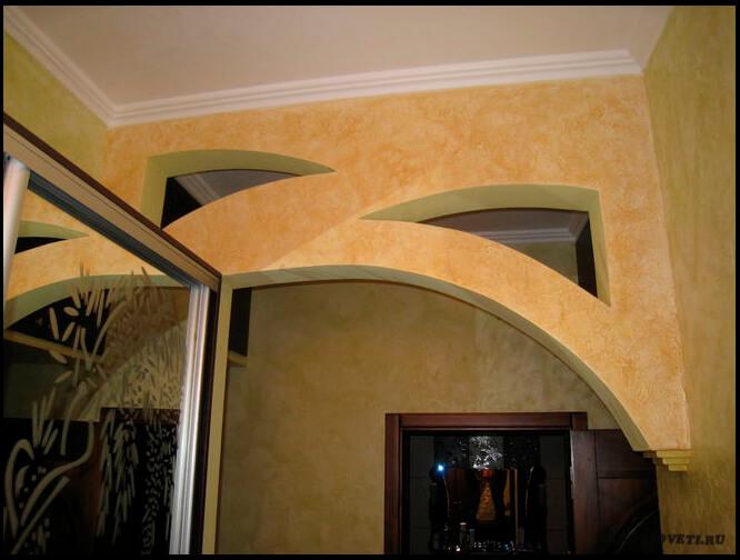 как отделать комнатную арку