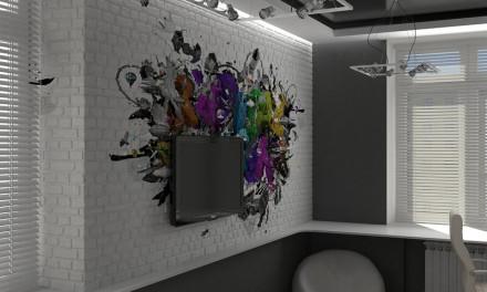 Декоративный кирпич в интерьере