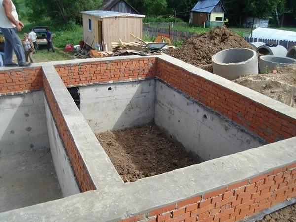 этапы строительства подвала