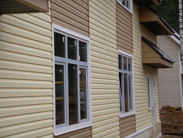 фасад дома - сайдинг