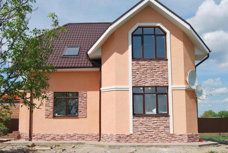 фасад дома - Штукатурка
