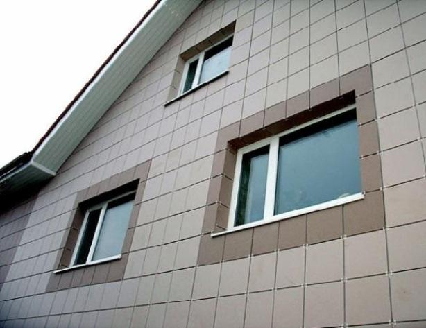 фасад дома - Керамогранит