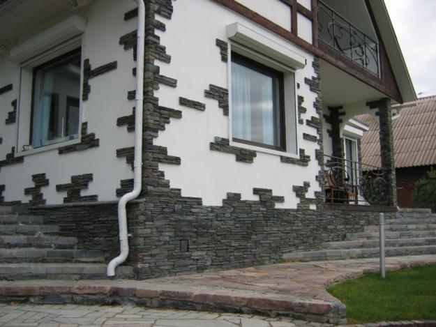 фасад дома - Плитка
