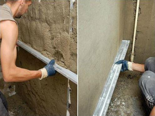 как штукатурить кирпичную стену цементным раствором