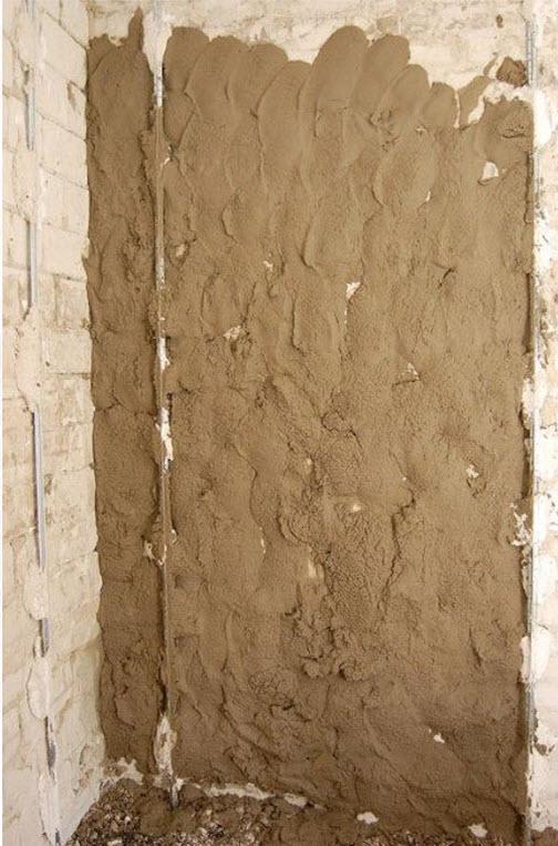 слой цементной штукатурки