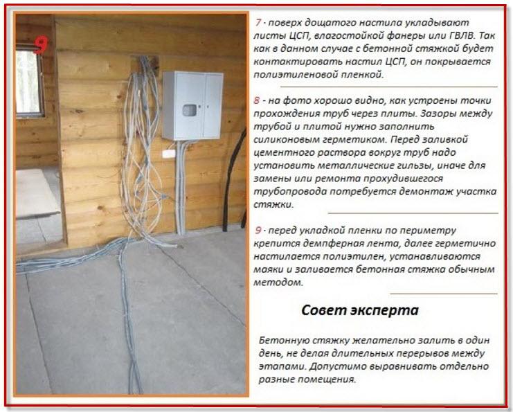 бетонный пол в деревянном доме