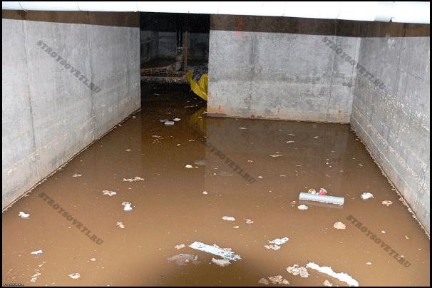 Способы избавления от воды в подвале дома
