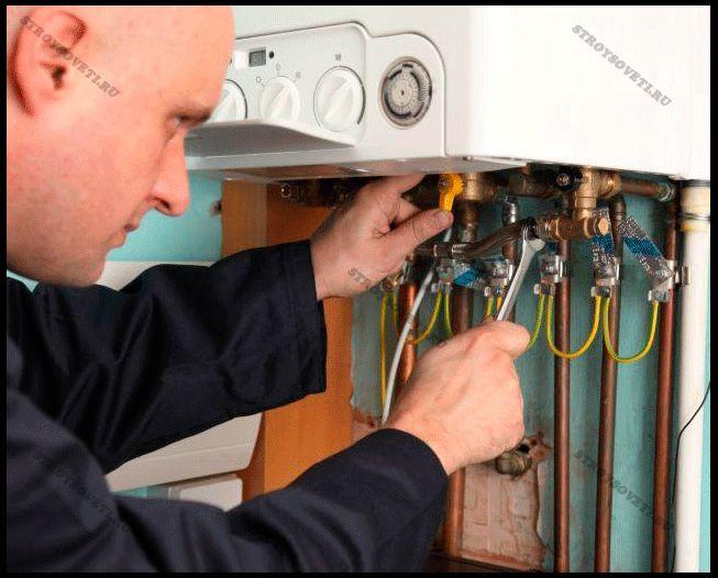 подключение газового котла на кухне
