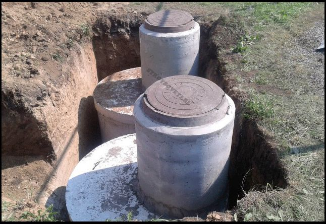 септика из бетонных колец