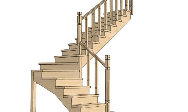 Расчет угла наклона лестницы