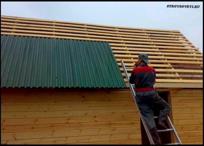 как рассчитать угол наклона односкатной крыши