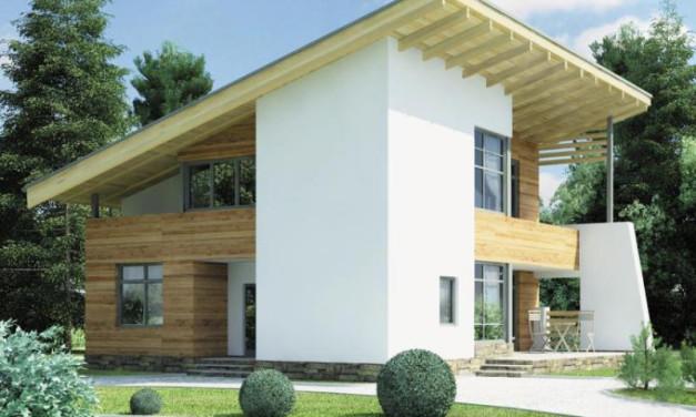 Определение угла наклона односкатной крыши