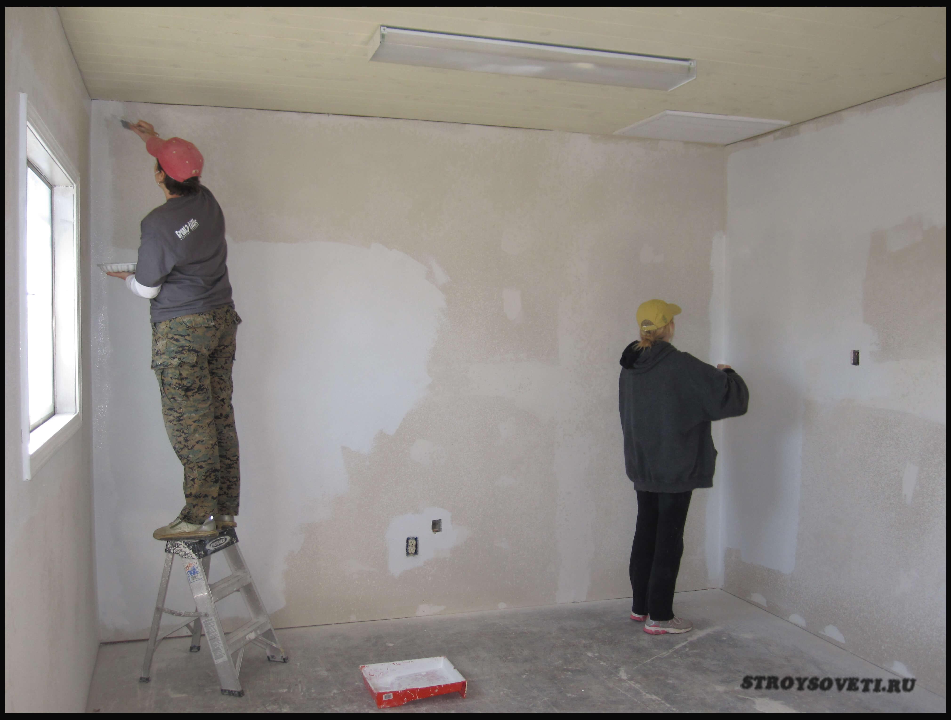 грунтовка и шпаклевка стен