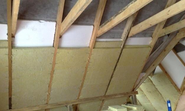 Утепление крыши дома изнутри своими руками