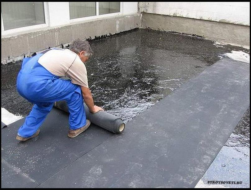 ремонт крыши гаража рубероидом