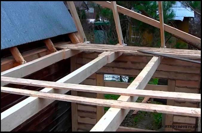 крыша пристройки к дому своими руками