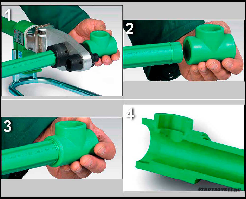 как соединить железную трубу с полипропиленовой