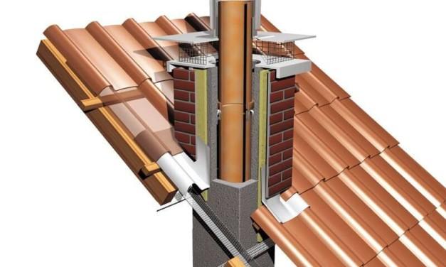 Тонкости вывода дымохода через крышу