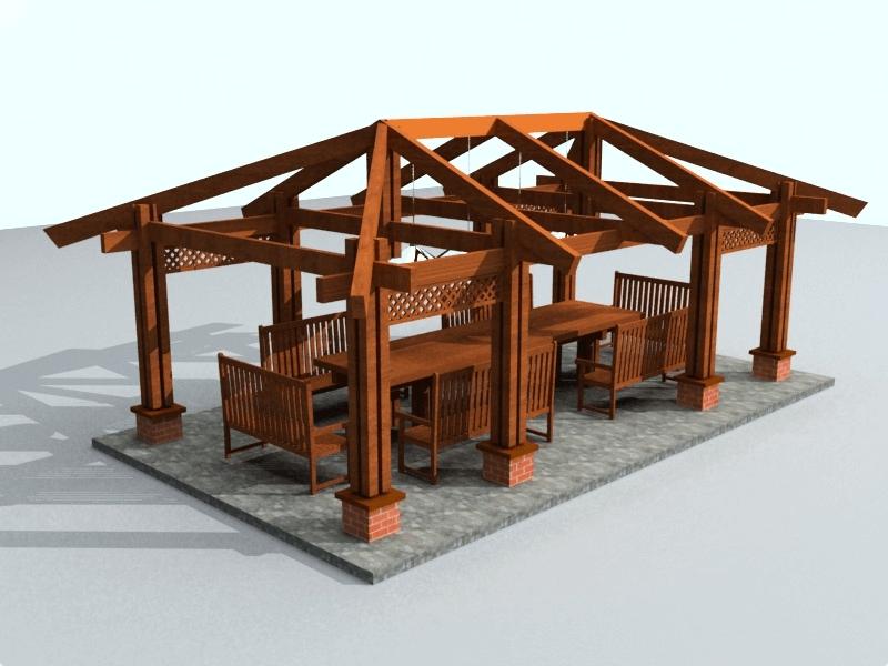 Чертеж четырехскатная крыша для беседки своими руками