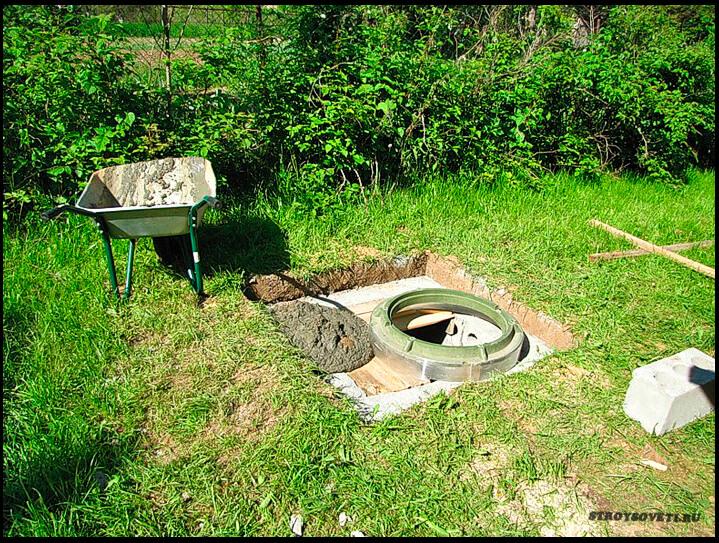 Сливная яма для летнего душа на даче и размеры